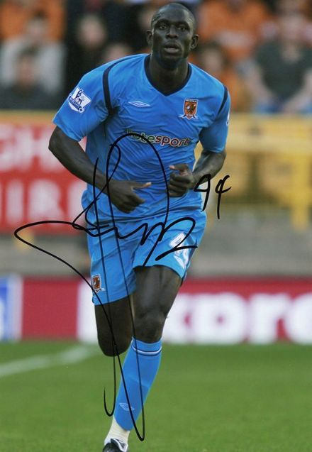 Seyi Olofinjana, Hull City & Nigeria, signed 12x8 inch photo.